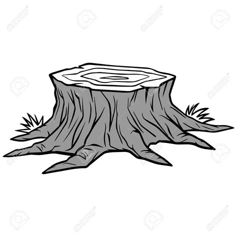 tree trunk clipart black and white tree stump drawing at getdrawings free for personal