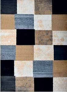 Contemporary geometric area rug modern stripe squares for Bathroom carpet top view