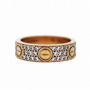 Cartier 18k Rose Gold Diamond LOVE Ring Size 58 Boca Raton