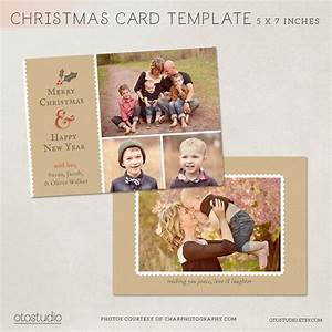 Digital photoshop christmas card template for photographers for Digital christmas card templates