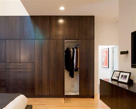 Modern Bedroom Closets by Custom Wood Veneers The Closet