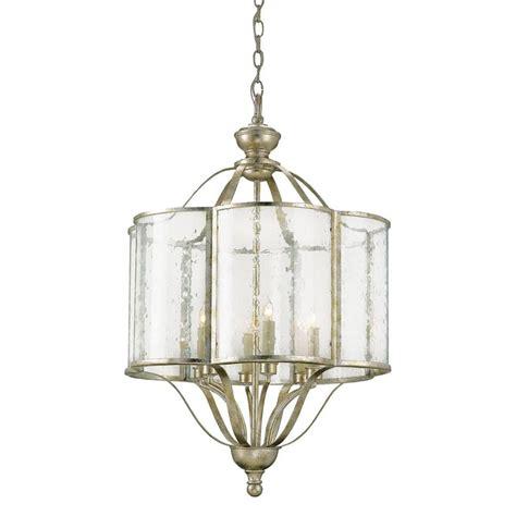 silver lantern pendant light levroux seeded glass curved silver 6 light pendant lantern
