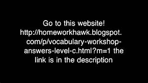 Sadlier Oxford Vocabulary Answers Level D Vocabulary Workshop Level C D And E Free Answers Youtube