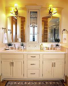 Bathroom cabinet ideas casual cottage for Designs of bathroom cabinets