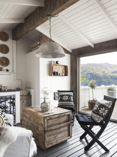 hytte pa terrassen coastal living rooms norwegian