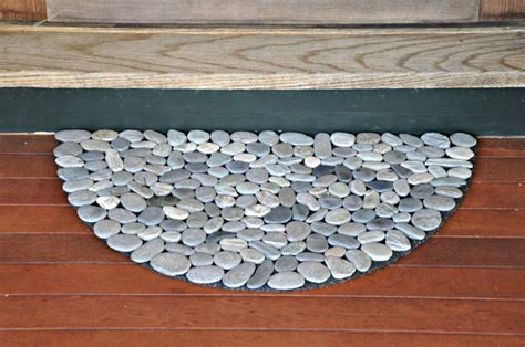 river rock doormat 10 diy welcome mats that will jazz up your front porch