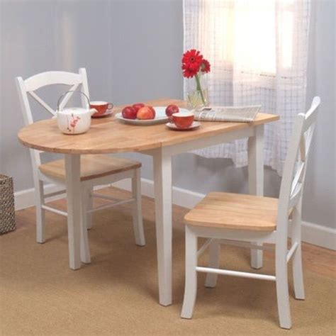 drop leaf tables for small spaces 3 table and chairs