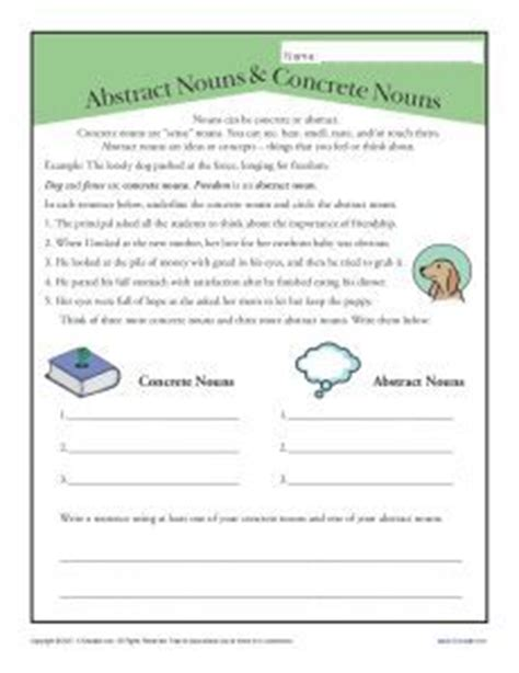 abstract nouns for kids 4th grade abstract nouns