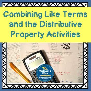 combining  terms  distributive property activities