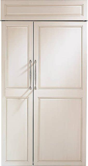 monogram  cu ft side  side built  refrigerator custom panel ready zisnnii  buy