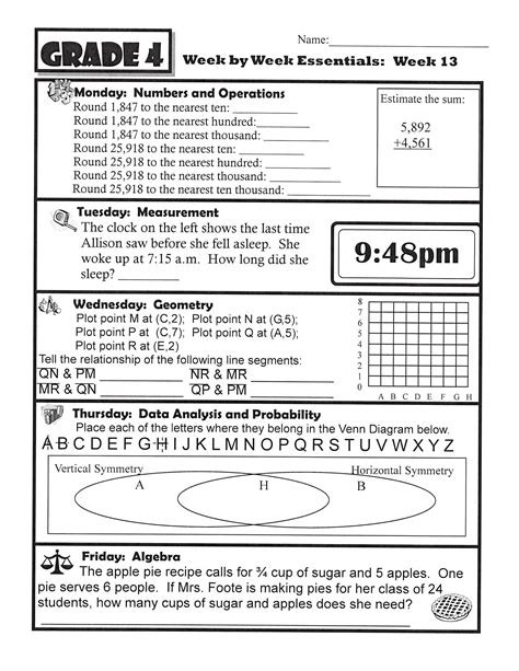 4th grade science homework worksheets math mrs foote s math science gifted middle