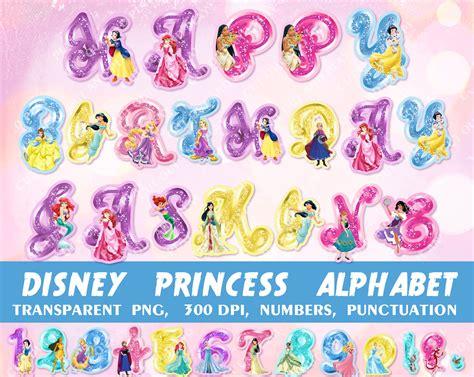disney princess alphabet princess clipart