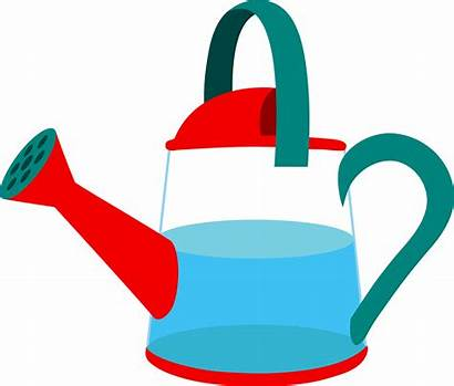Watering Water Clipart Clip Half Pot Container