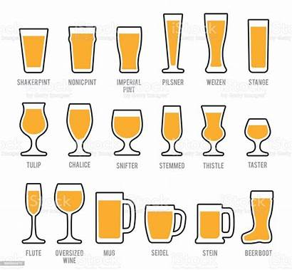 Beer Glass Pint Glasses Icon Vector Clip