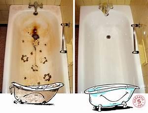 Repeindre Une Baignoire émaillée : r novation restauration de baignoire lavabo vasques ~ Premium-room.com Idées de Décoration