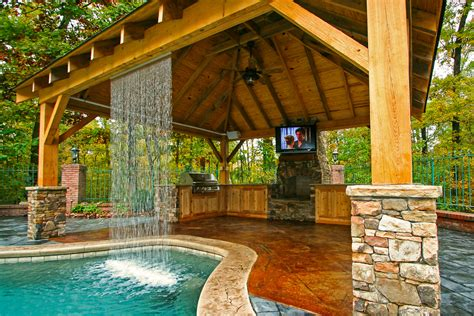 house plans with pools and outdoor kitchens outdoor living mid state pools