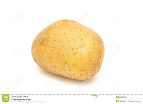 pomme de terre sur le fond blanc photographie stock