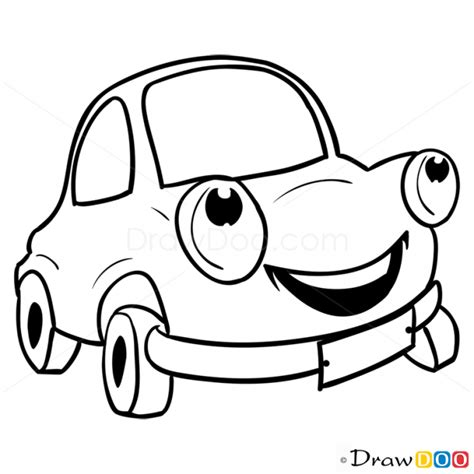draw happy car cartoon cars