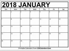 Printable 2018 Calendar 123CalendarsCom
