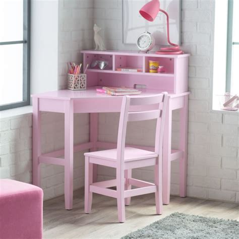 kids desk for girls corner desk and chair set pink kids bedroom shelves