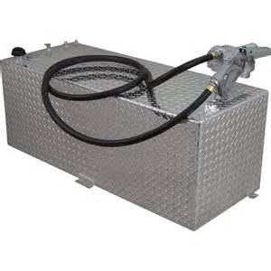 RDS Auxiliary Fuel Transfer Tank w/Pump 80-Gal Cap 15 GPM Pump Diamond Plate Fin