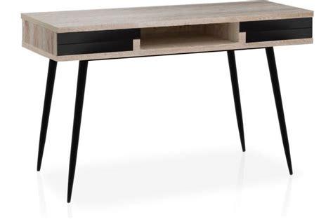 bureau bois pas cher bureau scandinave bois clair et noir plani design pas cher