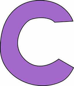 c | Purple Letter C Clip Art Image - large purple capital ...