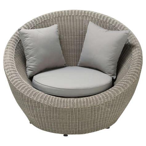 deco chambre mer fauteuil de jardin en résine tressée grise cape town