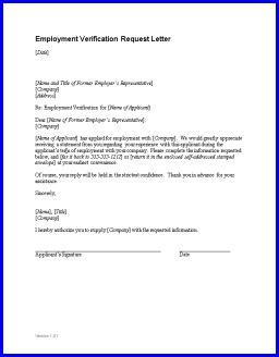 employment verification letter sample employment