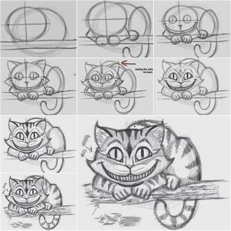 draw  cheshire cat   easy  kunst  pinterest