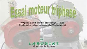 Moteur Triphasé En Monophasé : essai moteur triphas 3 me partie branch en monophas 230v avec convertisseur rotatif youtube ~ Maxctalentgroup.com Avis de Voitures