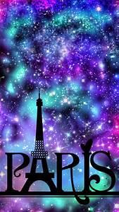 Paris Night Sky Galaxy Wallpaper | Wallpaper Creations ...
