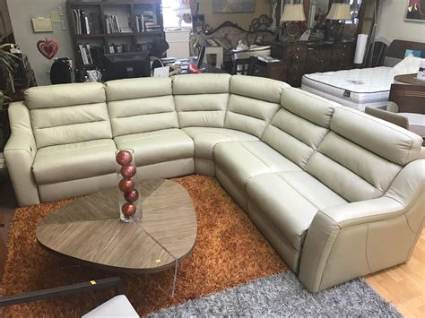 recliner sectional sofa kuka sectional sofa leather recliner beige leather