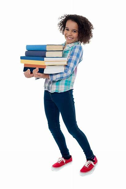 Student Carrying Books Young Kid Active Classroom