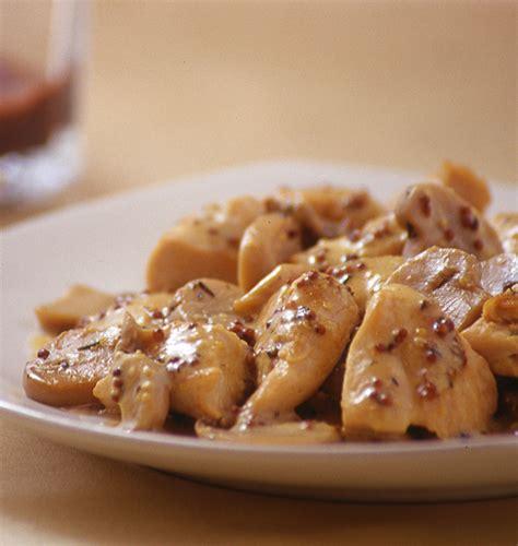 recette cuisine legere poulet à la moutarde et aux chignons sauce légère au yaourt les meilleures recettes de