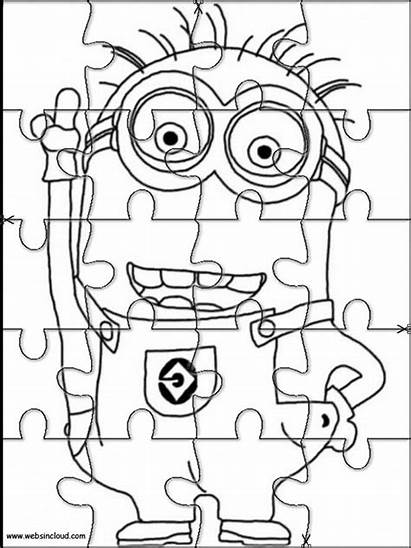 Puzzle Jigsaw Coloring Printable Pages Puzzles Cutting