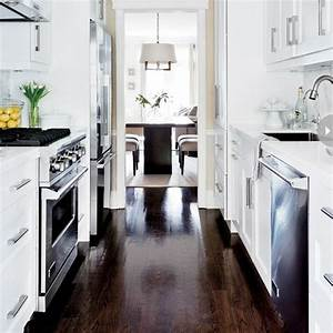 the 25 best small galley kitchens ideas on pinterest With kitchen colors with white cabinets with thin blue line window sticker