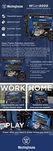 Westinghouse Wgen9500 9500w  12000w Gas Remote Start