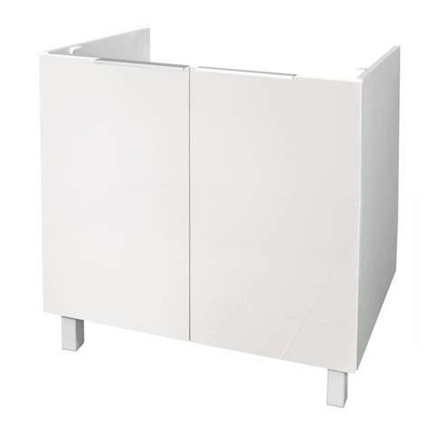 evier cuisine 80 cm pop meuble sous évier l 80 cm blanc brillant achat
