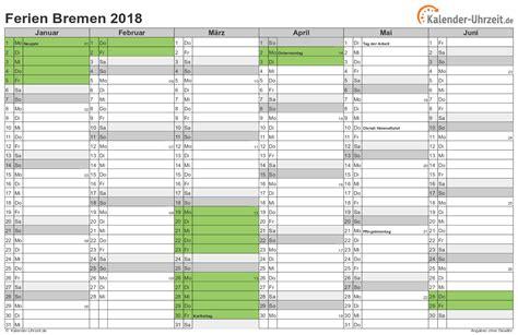 ferien bremen ferienkalender zum ausdrucken