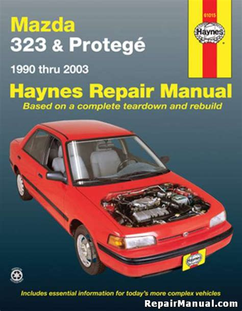 haynes mazda  protege   auto repair manual