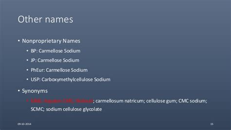 Other Names For by Cellulose Ethers Versatile Pharmaceutical Excipients