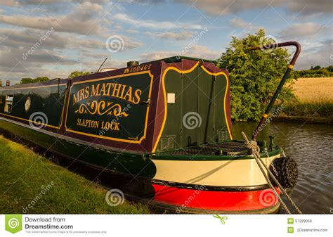Living On A Boat Uk by Living On A Canal Boat Editorial Stock Photo