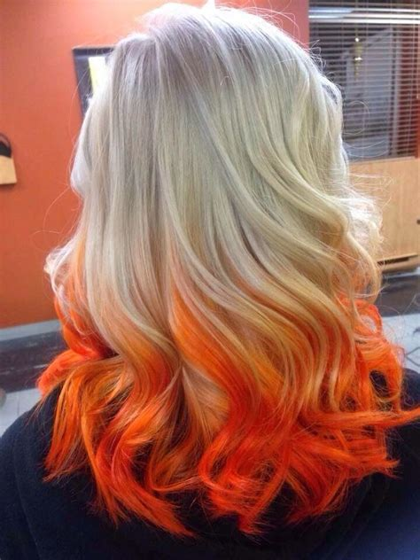 Blonde And Orange Hair Hair And Makeup In 2019 Hair