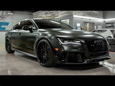 2015 audi rs7 satin black wrap and tons of other mods youtube