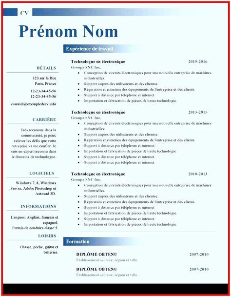 Cv Gratuit En Ligne by 14 Cv En Ligne Gratuit A Imprimer Doctemplates