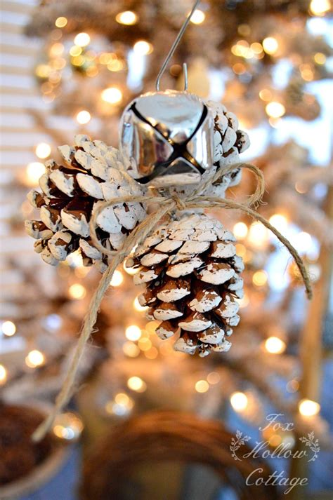 diy pine cone christmas ornaments jingle bell pinecone ornament handmade ornament no 20 bystephanielynn