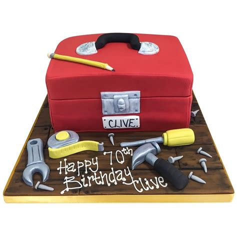 It could be strictly family and friends, or you could invite some close colleagues. Toolbox Cake - Buy Online, Free UK Delivery - New Cakes