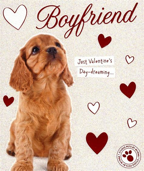 Check spelling or type a new query. Boyfriend Cute Puppy Dog Valentine's Day Greeting Card | Cards
