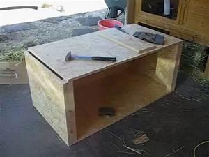 Maison Pour Lapin : ma cage lapins fait maison partie 1 youtube ~ Premium-room.com Idées de Décoration